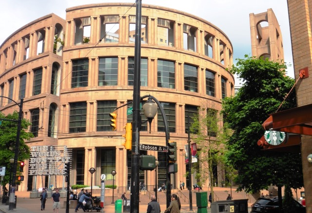 View of Vancouver Public Library from Tour Bus - photo zoedawes