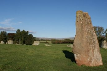 Long Meg Stone Circle in the Eden Valley Cumbria