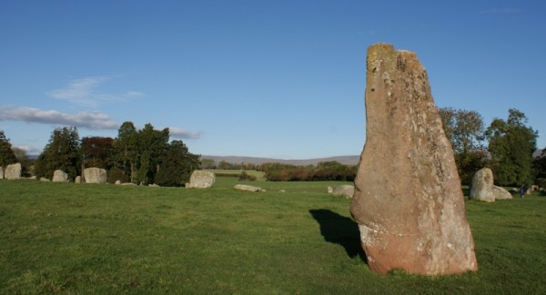 Long Meg Stone Circle in the Eden Valley Cumbria
