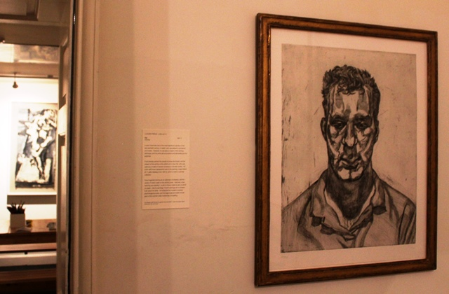 Lucien Freud drawing abbot hall kendal - image Zoe Dawes