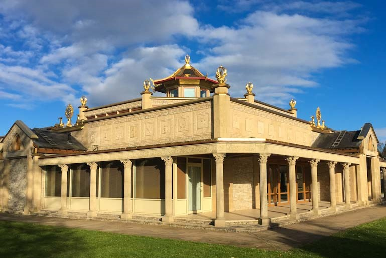 Manjushri Buddhist Temple at Kadampa Meditation Centre near Ulverston in Cumbria. Photo Zoe Dawes