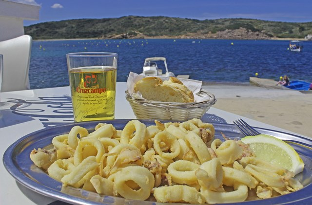Meal by the sea in Es Grau Menorca - image zoedawes