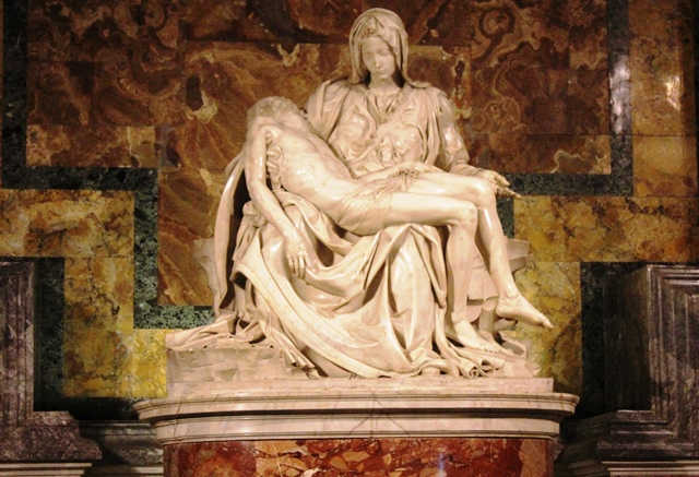 Michelangelo's Pieta in St Peter's Basilica - Rome - photo zoedawes
