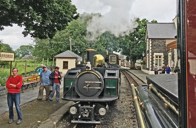 Minffordd Station - Ffestiniog Railway steam train - photo Zoe Dawes
