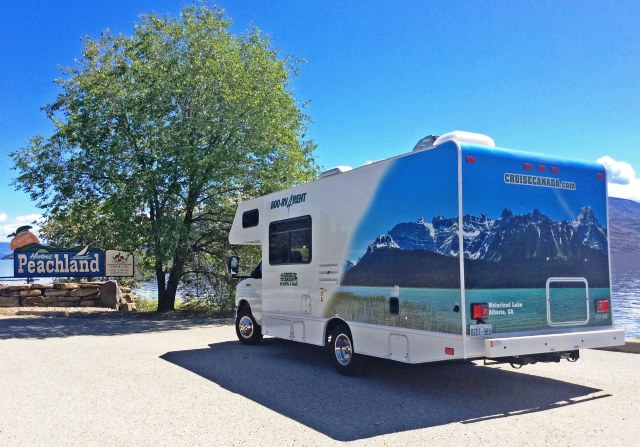 Motorhome by Okanagan Lake Canada