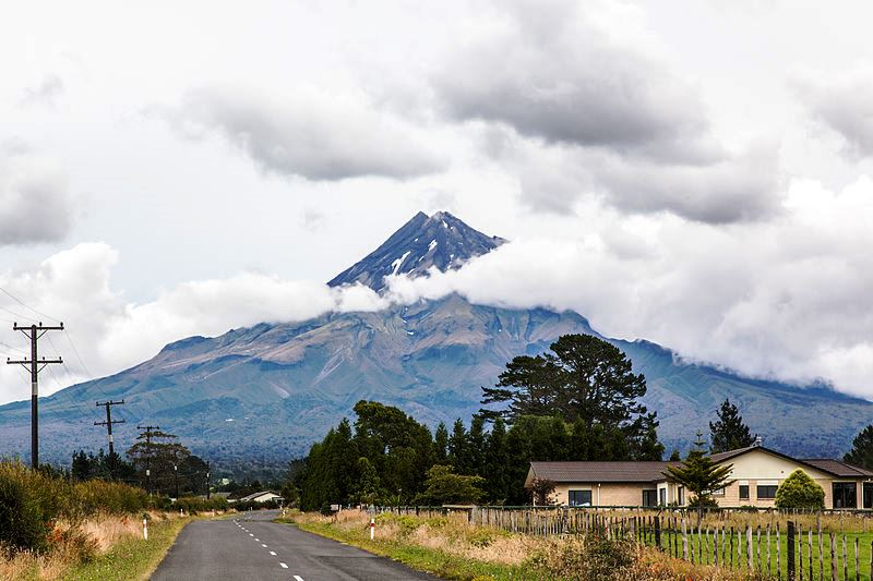 Mount Taranaki from New Plymouth North Island New Zealand - image Russell Street