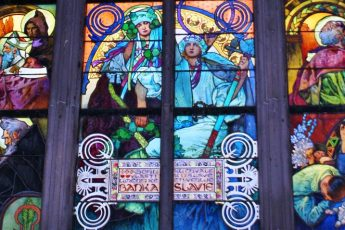 Mucha Window in Prague Cathedral - photo The Quirky Traveller