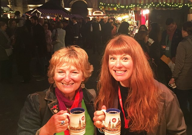 Mulled wine at Nuremberg Christmas Market Bavaria Germany - Zoe Dawes