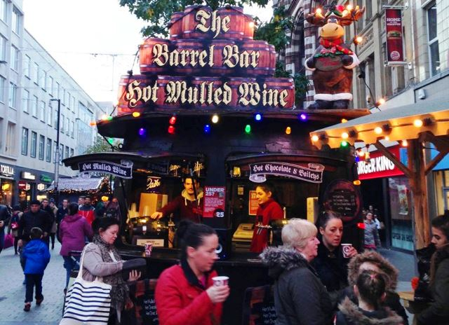 Mulled wine stall Liverpool Christmas Market - zoedawes