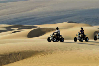 Quad bikes in the Namibia Desert