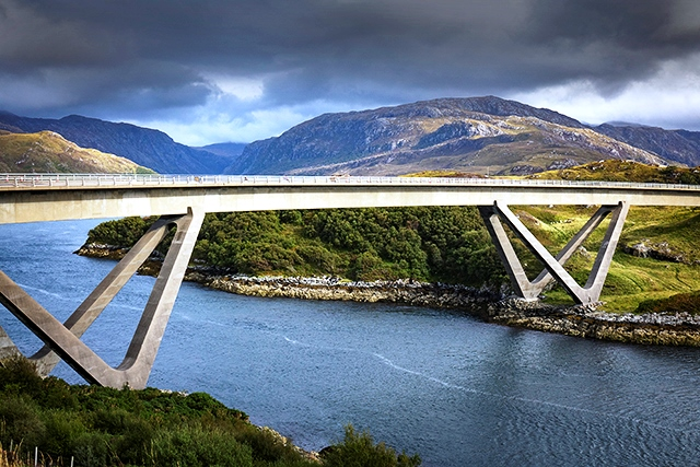 North Coast 500 - bridge at Kylescu, Sutherland Scotland - photo Angus Matheson