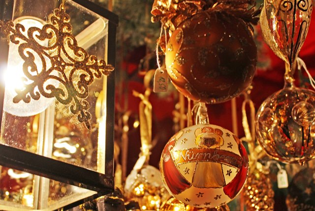 Nuremberg Christmas Market baubles - photo Zoe Dawes