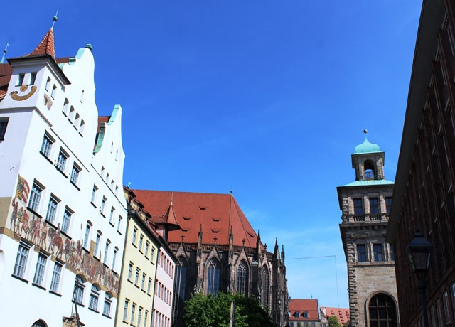Nuremberg city centre Germany