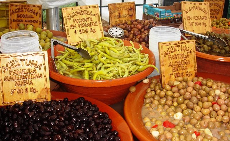 Olives at Puerto Pollensa Market Majorca
