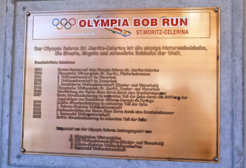 Olympic Bob Run dates St Moritz