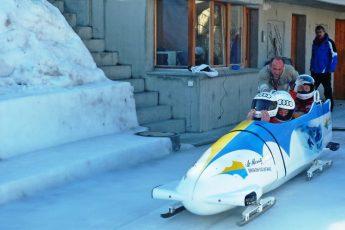 Olympic Bob Run entrants St Moritz Switzerland - photo Zoe Dawes