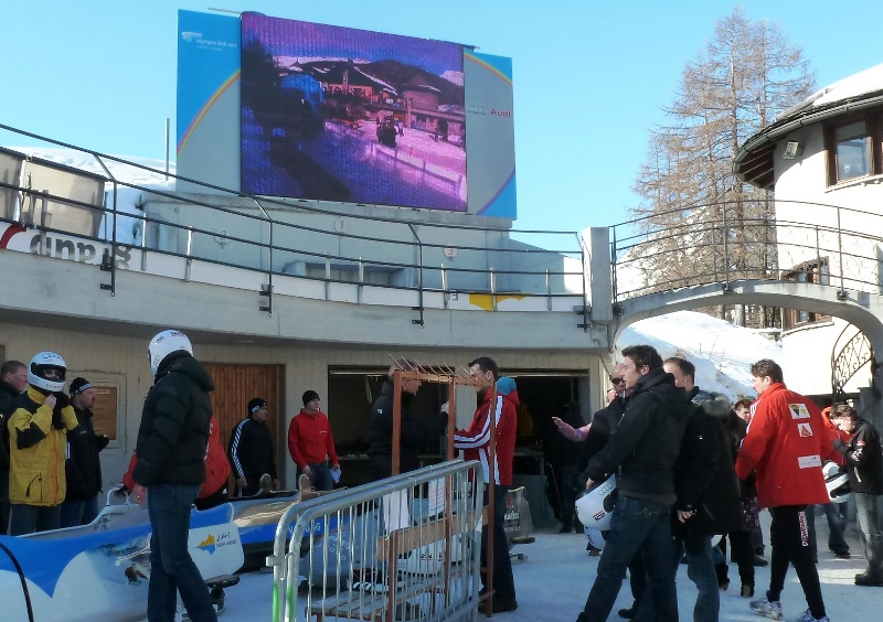 Start of Olympic Bob Run St Moritz Switzerland - photo Zoe Dawes