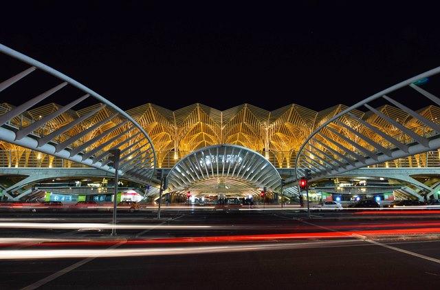 Oriente train station Lisbon