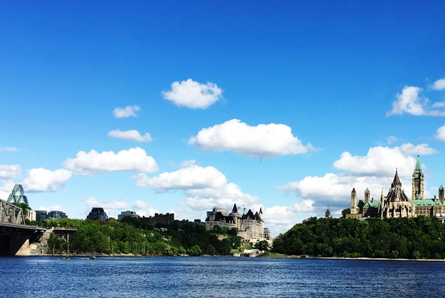 River view of Ottawa Canada - photo Zoe Dawes
