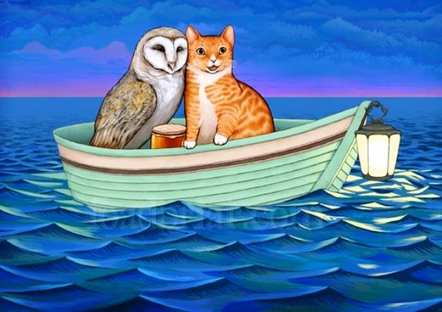 The Owl and Pussycat by Edward Lear toadbriar