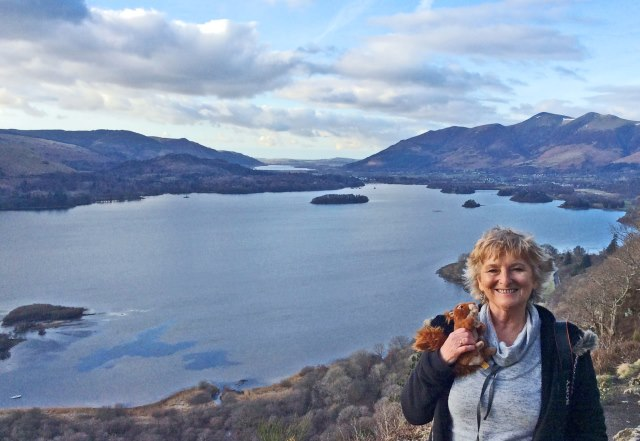Oxley the Red Squirrel at Surprise View near Keswick