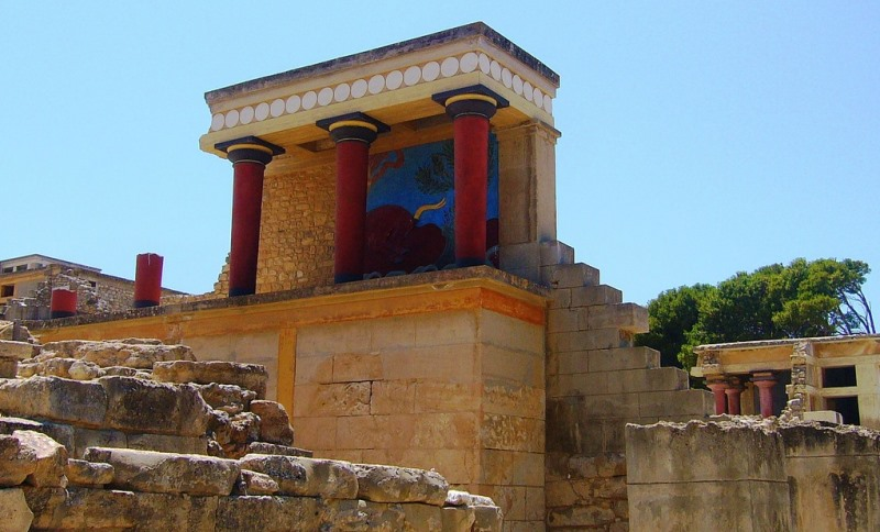 Minoan Palace of Knossos on Crete https://commons.wikimedia.org/wiki/Commons:Copyright_tags#United_States