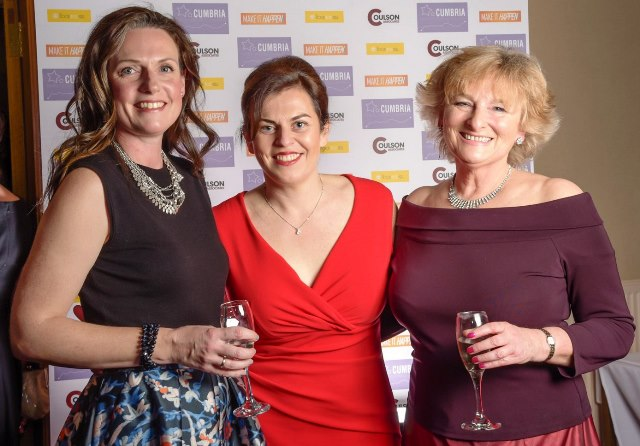 Paula Scott, Sue Coulson and Zoe Dawes at Cumbria Family Business Awards