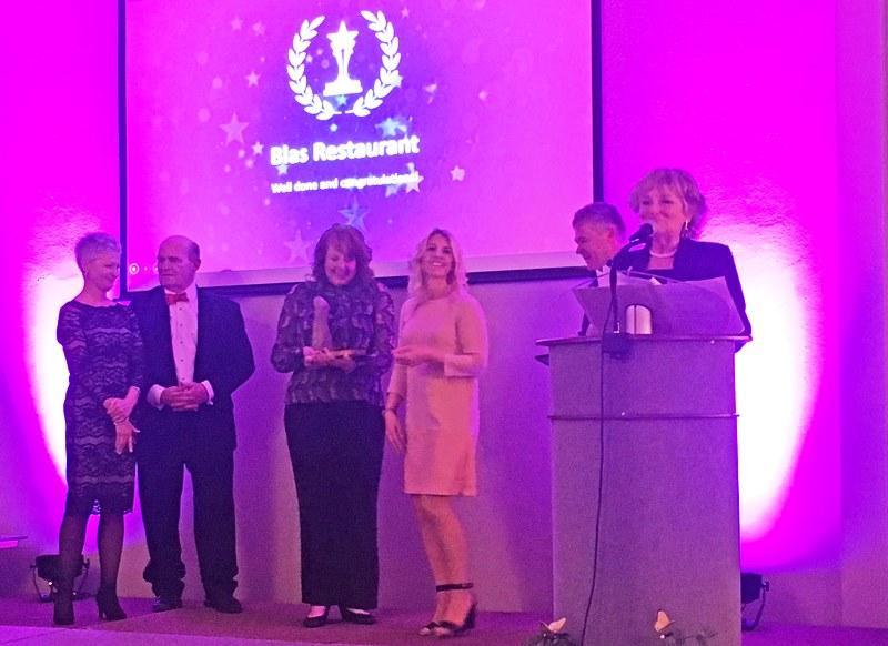 Pembrokeshire Tourism Awards winners - host Zoe Dawes