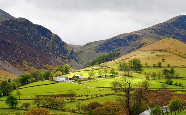 Newlands Valley in the Lake District - photo Peter Henry