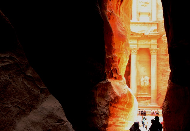 The Treasury from the Siq petra jordan - photo zoedawes