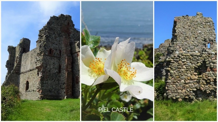 Collage of photos of Piel Castle by Zoe Dawes
