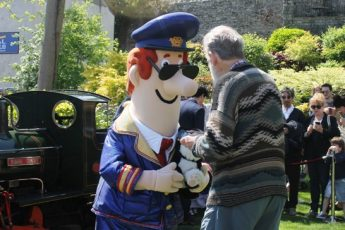 Postman Pat and author John Cunliffe in Kendal Cumbria - photo Zoe Dawes