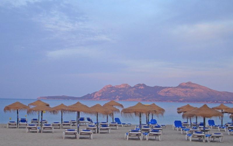 Puerto Pollensa in rain Beach Majorca - The Quirky Traveller