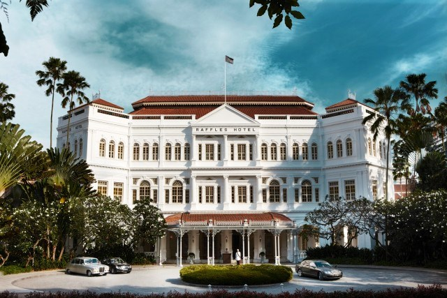 The history Raffles Hotel Singapore