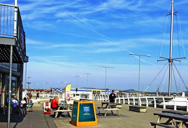Rhyl Harbour Hub Cafe Wales - photo Zoe Dawes