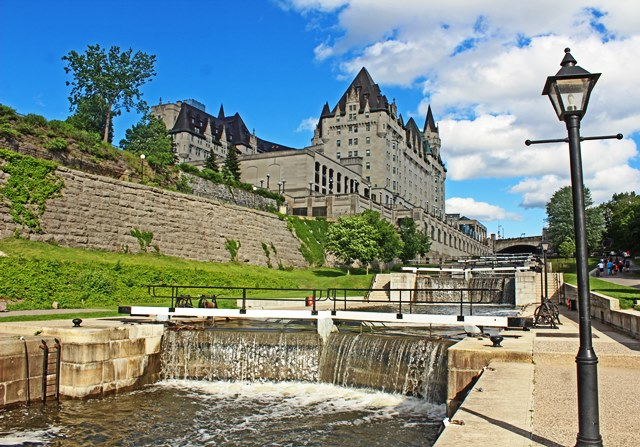 The Rideau Canal and Chateau Laurier Ottawa Canada 150 - photo Zoe Dawes