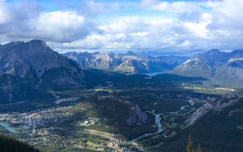 Banff and the Rockies from the top of Sulphur Mountain - Alberta, Canada Mind Body Spirit - photo Zoe Dawes