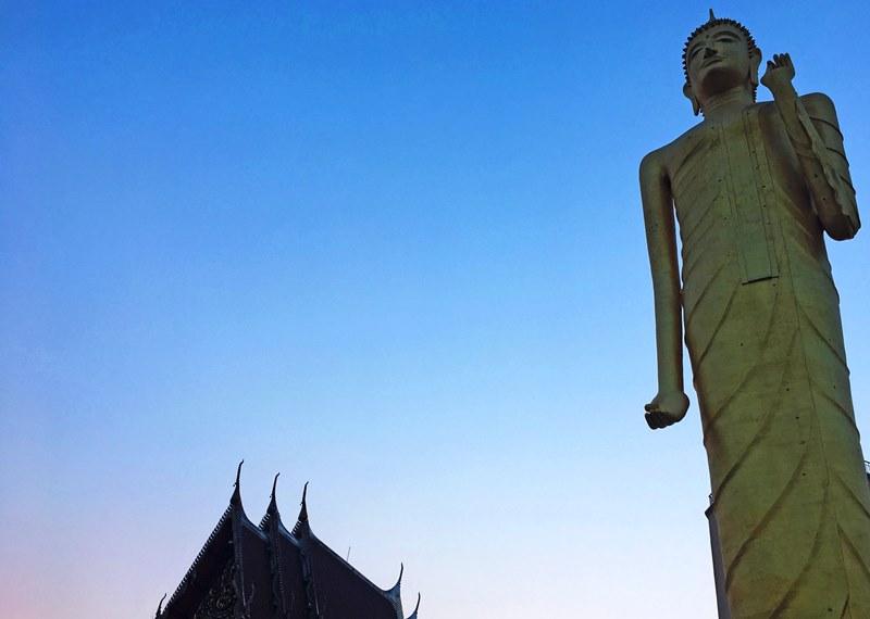 Standing Buddha Wat Burapapiram Roi Et