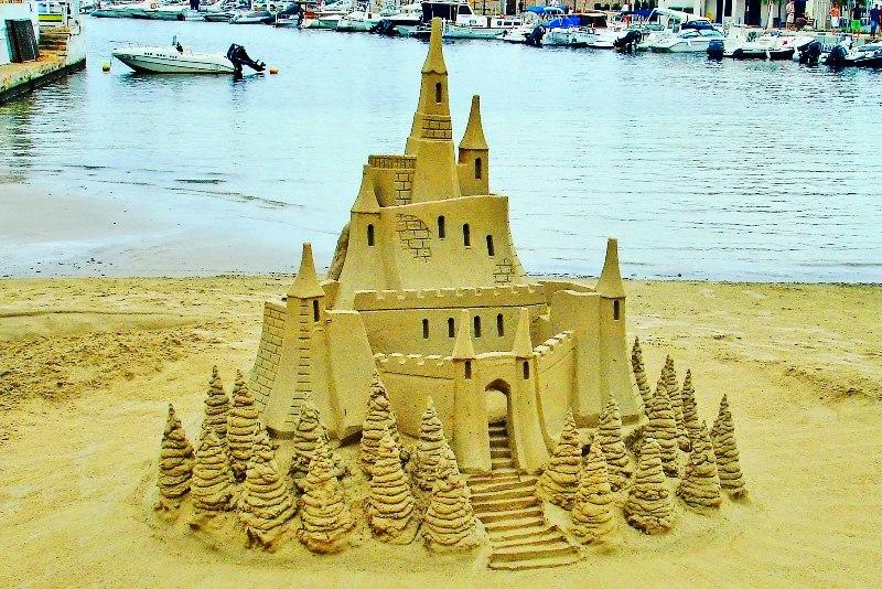Sand castle Puerto Pollensa Majorca Spain