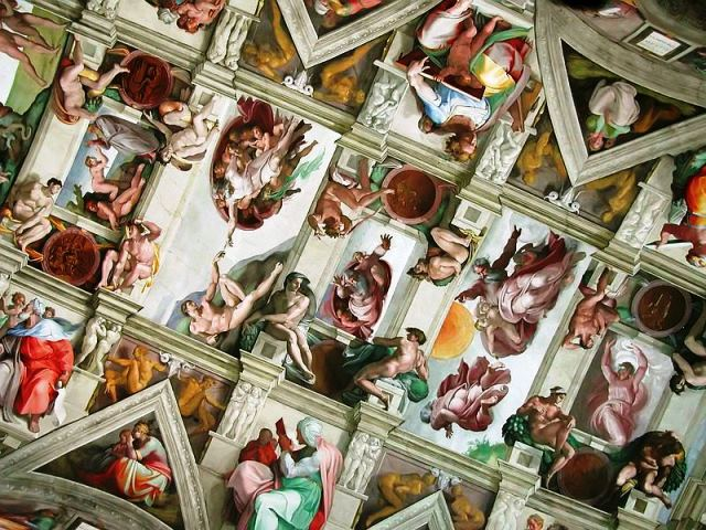 The Sistine Chapel ceiling - image wikipedia