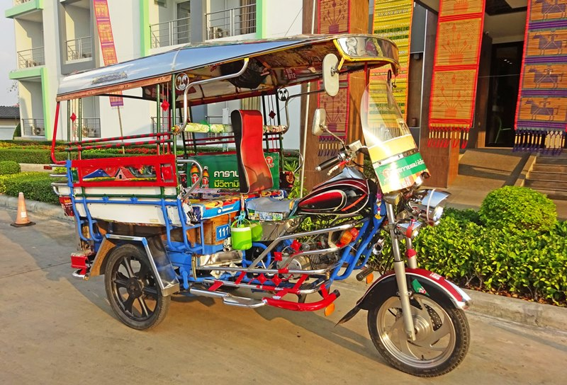 Skylab tuk-tuk outside the Rice Hotel Roi Et North East Thailand - photo Zoe Dawes