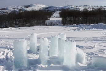 Snow Hotel Ice Sculpture Kirkenes Norway