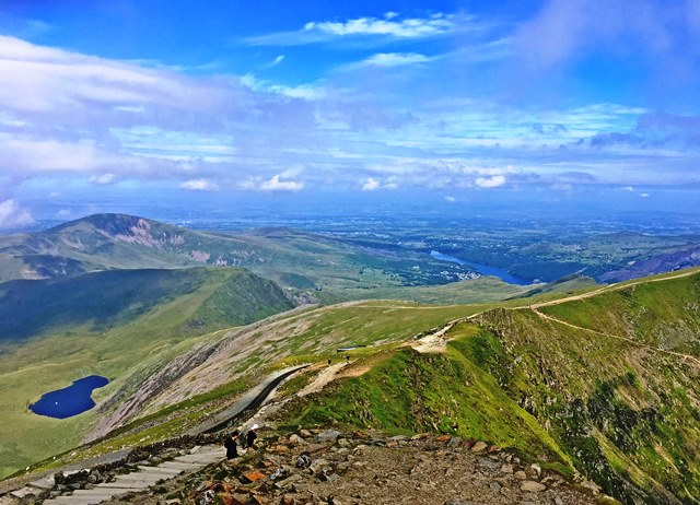 On top of Snowdon Mountain North Wales - photo Zoe Dawes