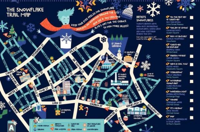 Liverpool SnowflakeTrail Map
