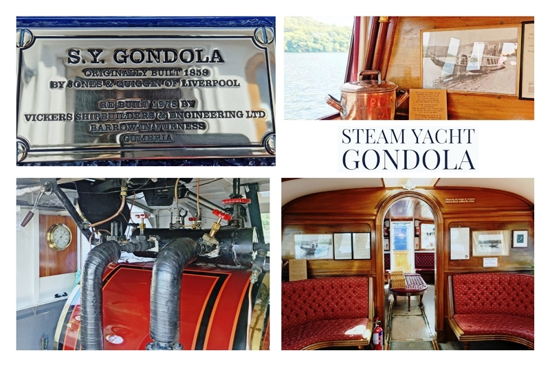 Steam Yacht Gondola collage - by Zoe Dawes