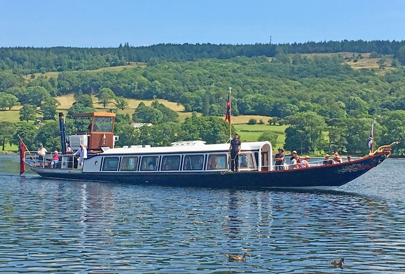 Steam Yacht Gondola on Coniston - Lake District - photo Zoe Dawes