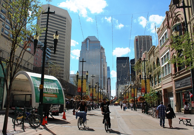 Stephen Avenue Calgary Albert - photo zoe dawes