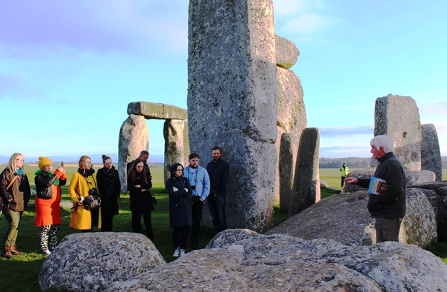 Stonehenge and guide Pat Shelley - photo zoedawes