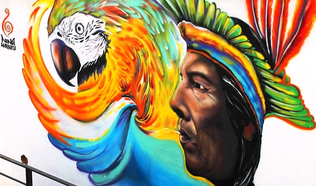 Street art in Quito Ecuador - photo Zoe Dawes