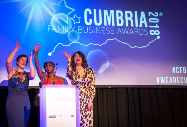Sue, Janett and Soph at Cumbria Family Business Awards